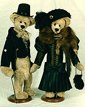 Lord Bennington and Abigail - 1994 First Place, Best Artist Bear Second Annual Teddy Bear Family Reunion