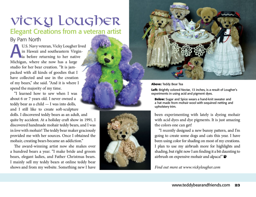 Teddy Bear and Friends July 2016 Article
