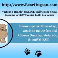Life is a Beach Online Teddy Bear Show – July 7 – 10