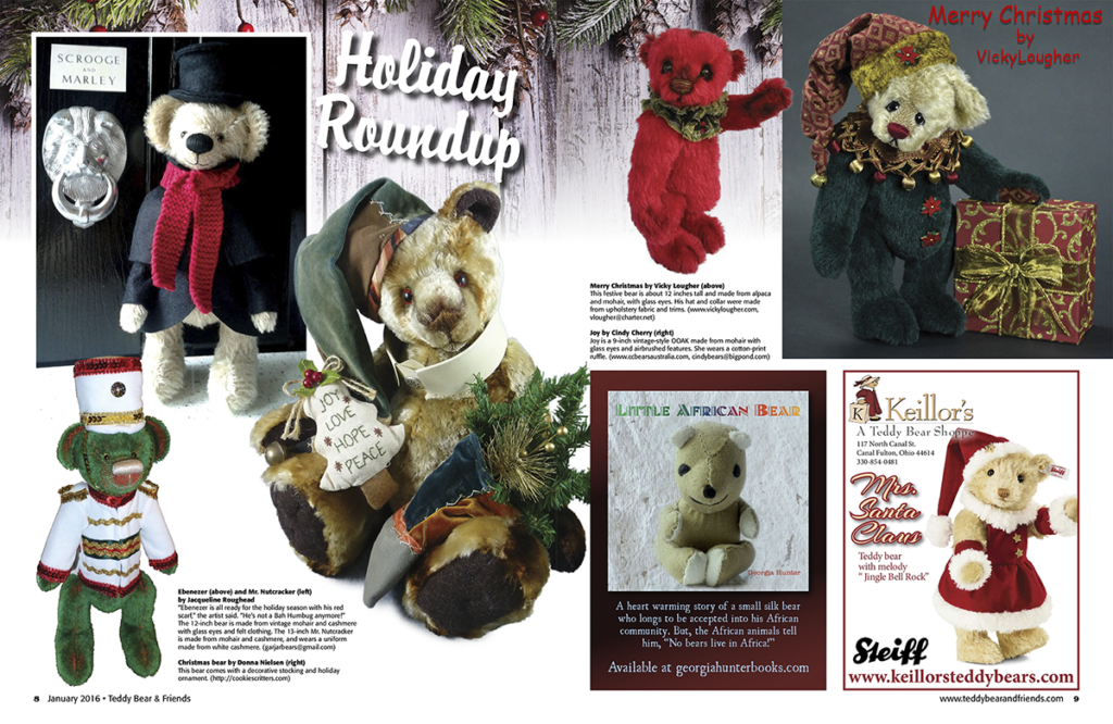Teddy Bear and Friends Jan 2016 Holiday Roundup