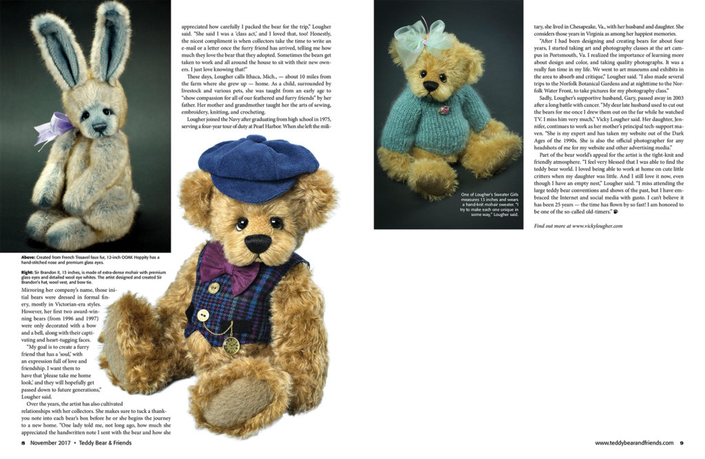 Teddy Bear and Friends November 2017 Feature Article page 2